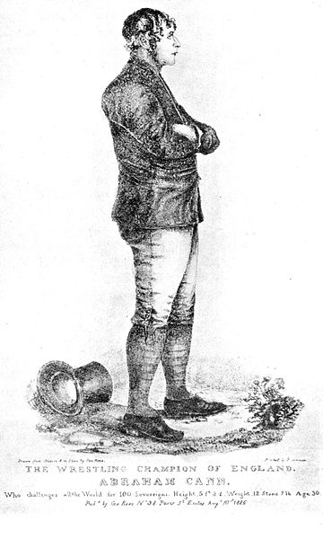 THE WRESTLING CHAMPION OF ENGLAND Abraham Cann