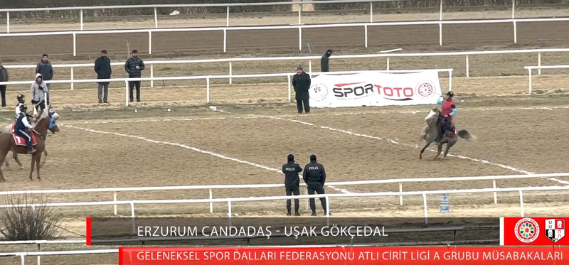 Screenshot from the recording January 5 2019 Semi final group A competition in the Equestrian League